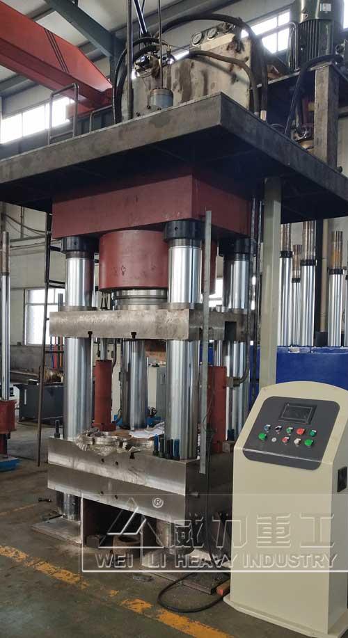 1500吨四柱油压机装配图